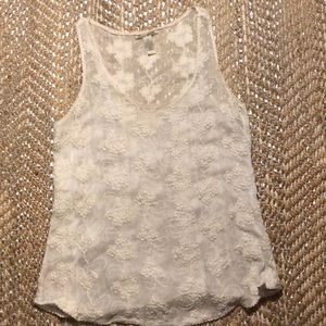 Lucky Brand lace racer back tank, large